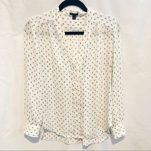 Ann Taylor Petite button up blouse